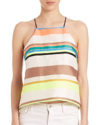 Milly | Stripe Trapeze Camisole | Lyst