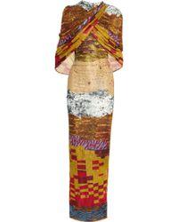 Givenchy Mosaic-Print Stretch-Jersey Maxi Dress - Lyst