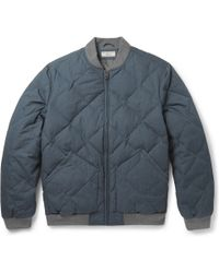 J.Crew Quilted Cotton-Blend Bomber Jacket - Lyst