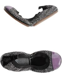Yosi Samra Purple Ballet Flats - Lyst