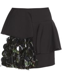 Marni Embellished Wool and Silk Miniskirt - Lyst