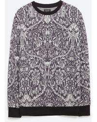 Zara | Jacquard Sweatshirt | Lyst