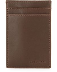 Cole Haan - Leather Money-clip Card Case - Lyst