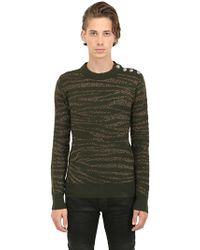 Balmain Zebra Merino Wool Sweater - Lyst