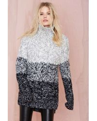 Nasty Gal Glamorous Grayed Out Sweater Tunic - Lyst