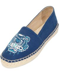 Kenzo 20mm Tiger Cotton Canvas Espadrilles - Lyst