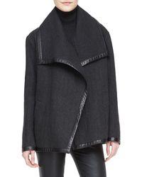 Ralph Lauren Black Label Talisa Boxy Wool Jacket - Lyst