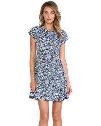 Charles Henry Cap Sleeve Dress - Lyst