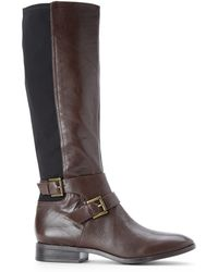 Nine West Brown & Black Bridge Riding Boots - Lyst