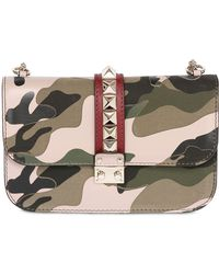 Valentino Large Lock Camouflage Patchwork Bag - Lyst