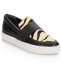 Loeffler Randall Irini Calf Hair & Leather Slip-On Sneakers - Lyst