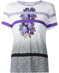 Prabal Gurung Stripe And Flower Print T-Shirt - Lyst