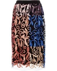 Clover Canyon   Floral Sequin Skirt   Lyst