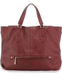 Halston Heritage Convertible Leather Hobo Bag purple - Lyst