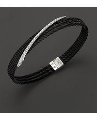 Charriol - Diamond Celtic Noir Bangle Bracelet in 18 Kt White Gold - Lyst