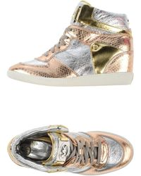 Michael Kors Silver High-tops  Trainers - Lyst