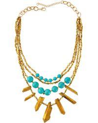 Panacea Multi-Strand Bead & Bar Necklace - Lyst