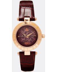 Vivienne Westwood Time Machine Purple Croc Watch Vv092brbr - Lyst