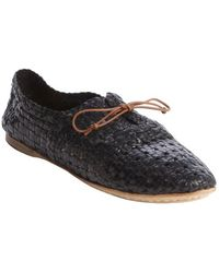 giraffe WALK - Black Basket Weave Perforated Leather Bow Detail 'jaipur' Loafers - Lyst