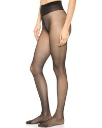 Wolford Individual 10 Tights Sand - Lyst