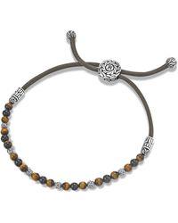 John Hardy Round Beads Bracelet On Black Mokuba Cord - Lyst