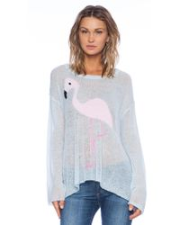 Wildfox White Label Pink Pet Sweater - Lyst