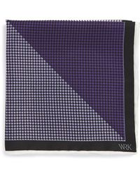 W.r.k. - Houndstooth Pocket Square - Lyst