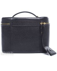 Chanel Preowned Black Caviar Vintage Cosmetic Carry Case - Lyst