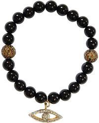 CB Bronfman | Onyx Diamond Bead Bracelet | Lyst