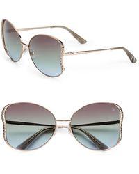 Swarovski - Crystal Wing Detail Sunglasses/Bronze - Lyst
