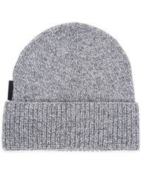 J.Lindeberg - Alf Grey Knitted Beanie - Lyst