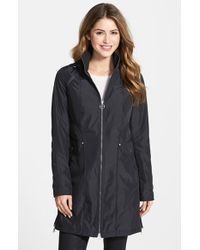 Laundry by Shelli Segal Petite Women'S Packable Raincoat With Removable Hood - Lyst