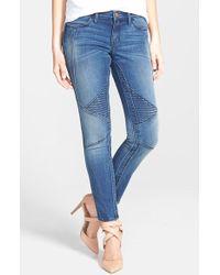 Dittos 'Tara' Moto Ankle Jeans - Lyst