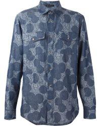 Versace Blue Medusa Shirt - Lyst