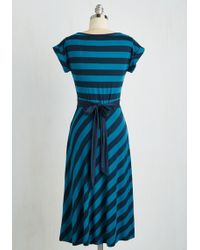 Sunny Girl Pty Lltd - An Afternoon With You Dress In Blue - Lyst