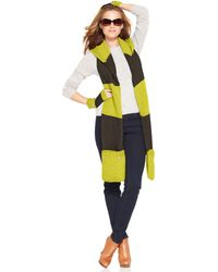 Michael Kors Michael Pocket Scarf with Signature Buttons - Lyst