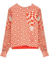 Preen Hoth Printed Blouse - Lyst