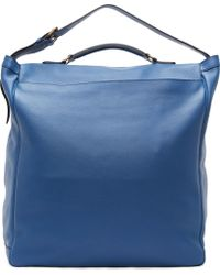 Burberry Prorsum - Bright Blue Grained Leather Travel Satchel - Lyst