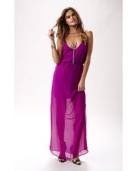Rory Beca Harlow Deep Vback Gown - Lyst
