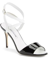 Manolo Blahnik Ankle Strap Sandal - Lyst