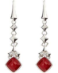 Stephen Webster Studded Coral Drop Earrings - Lyst