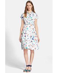 Kate Spade Paint Splatter Print Shirtdress - Lyst