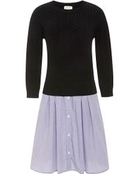 Band Of Outsiders Mixed-media Sweater Dress - Lyst