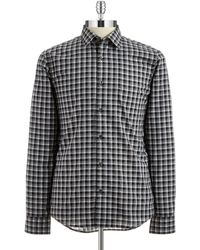 Michael Kors Tailored Fit Checkered Sportshirt - Lyst