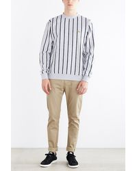 Obey Kingswell Striped Sweatshirt gray - Lyst