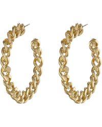 Kenneth Jay Lane Gold Earring - Lyst
