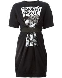 McQ by Alexander McQueen Band Sweatshirt Dress - Lyst