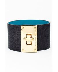 Marc By Marc Jacobs 'Turnlock' Wide Leather Bracelet - Lyst