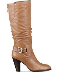 Guess Womens Mallay Wide Calf Boots - Lyst
