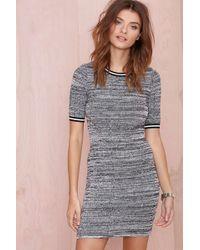 Nasty Gal Curve Ball Dress gray - Lyst